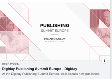 Digiday's European Publishing Summit, Budapest