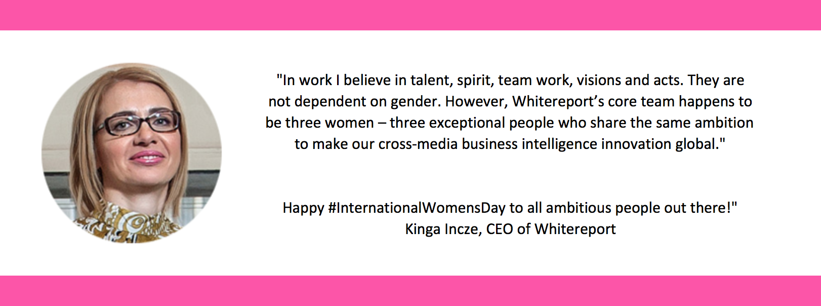 Happy International Women's Day From Whitereport