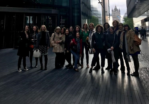 Kinga Incze in the European Women in Tech delegation in London