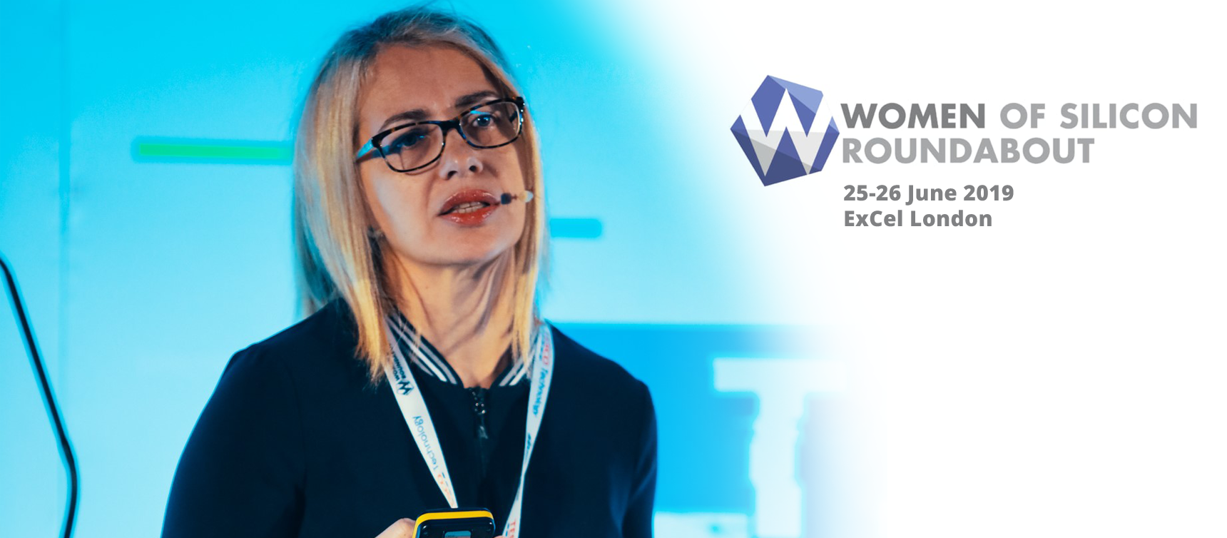 Kinga Incze speaking at the Women of Silicon Roundabout 2019
